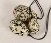 NATURAL DALMATIAN JASPER DRILLED YONI EGGS (SET OF 3)