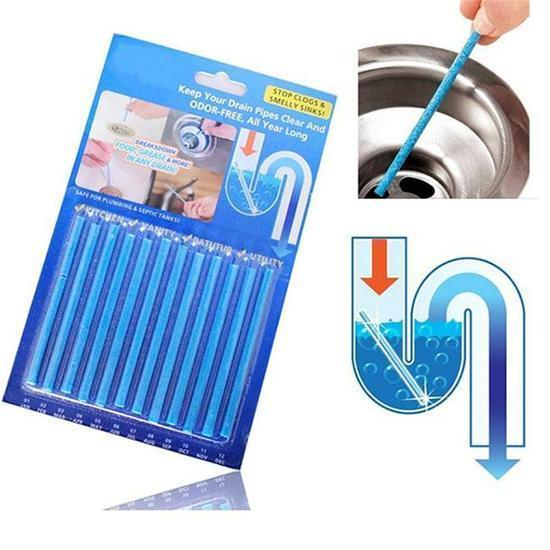 DRAIN CLEANING AND ANTI-ODOR STICKS (2 PACKS)