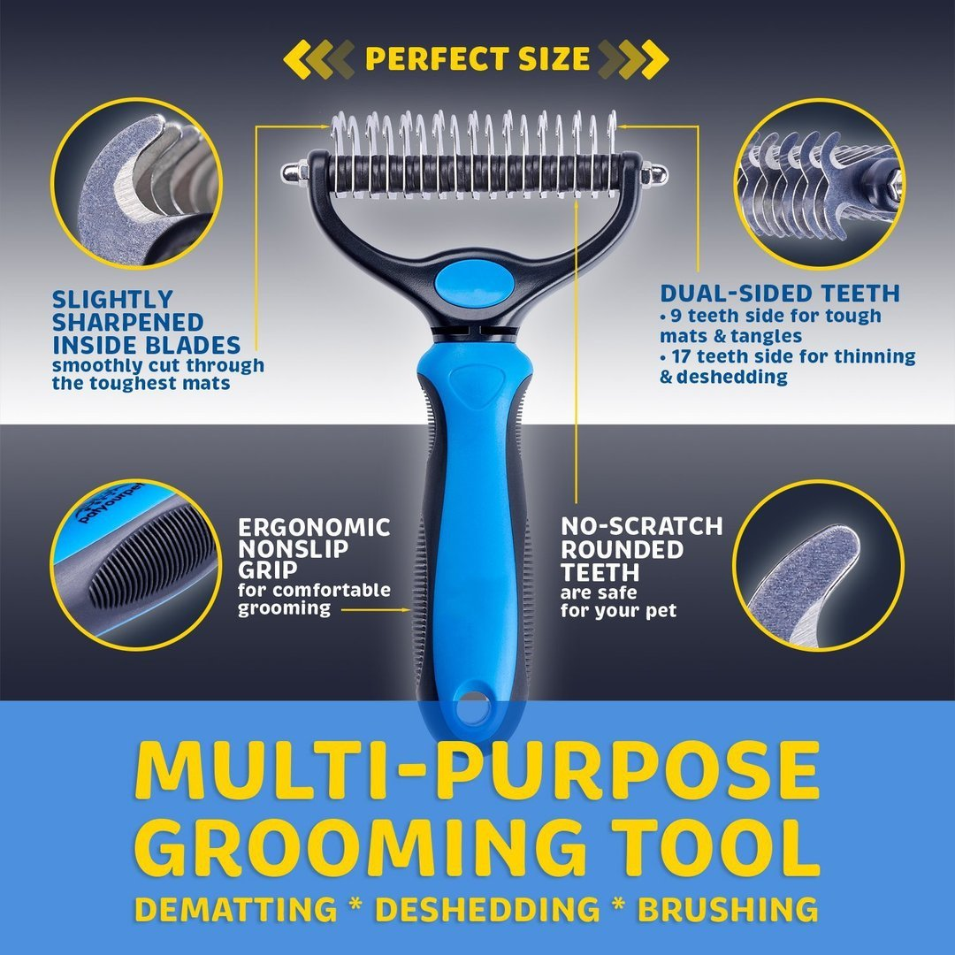 PET GROOMING AND UNKNOTTING COMB