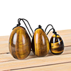 NATURAL TIGER EYE DRILLED YONI EGG (SET OF 3)