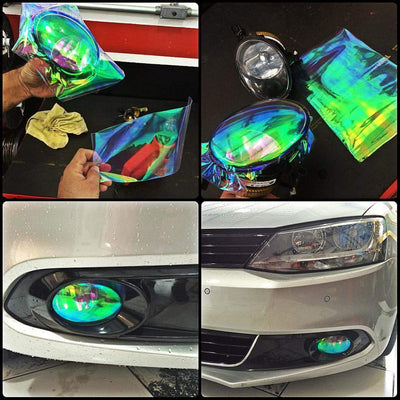 CAR HEADLIGHT COLORED TINTS (1 PAIR)