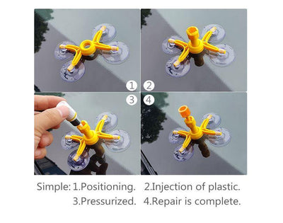 DO-IT-YOURSELF GLASS REPAIRING TOOLKIT