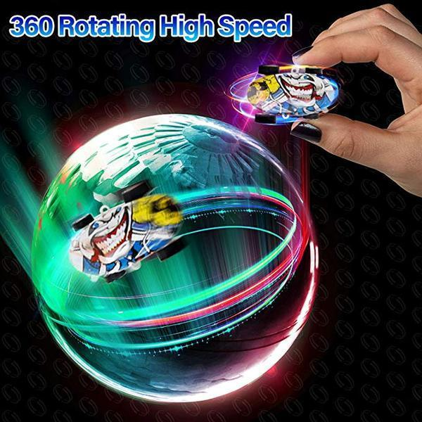 GLOWING HIGH-SPEED SPINNING CAR