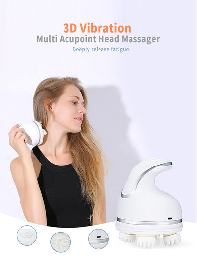 ELECTRIC SILICONE HEAD MASSAGER