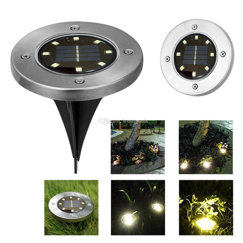 LED SOLAR POWERED DISC LIGHTS