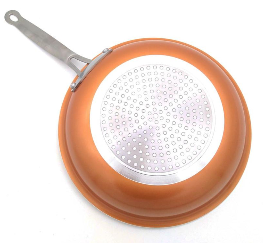 Slippy Non Stick Copper Frying Pan With Ceramic Coating