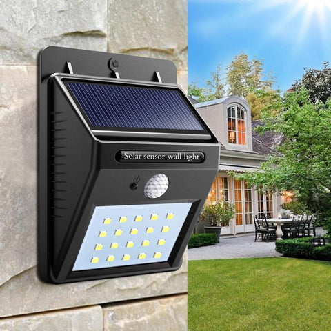 SOLAR POWER LED SECURITY NIGHT LIGHT