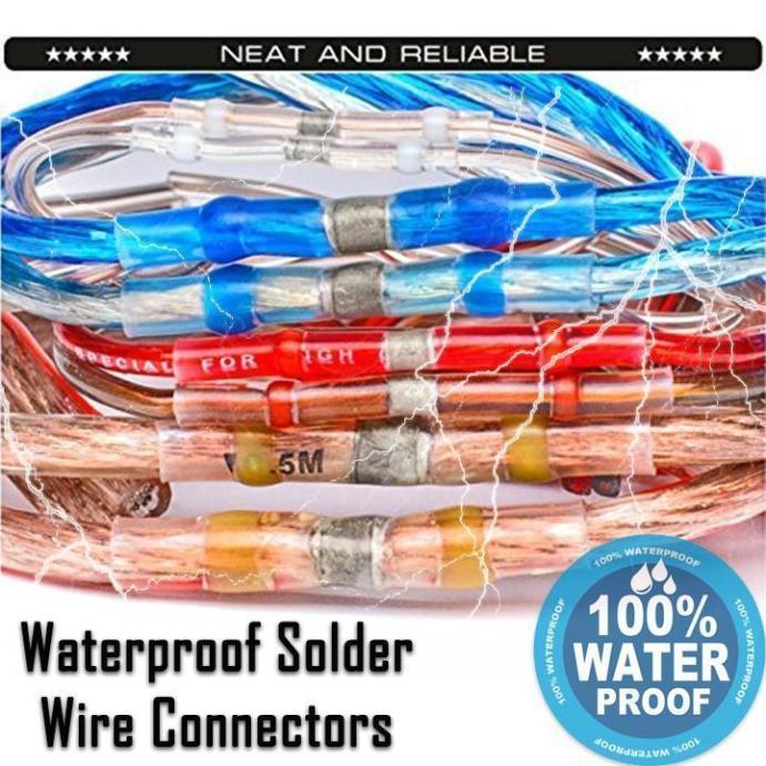 WATERPROOF WIRE SOLDER CONNECTORS