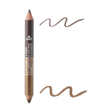 AVRIL 2-in-1 Eye Shadow and Eye Liner (Noir charbon/Taupe nacré) - Certified Organic