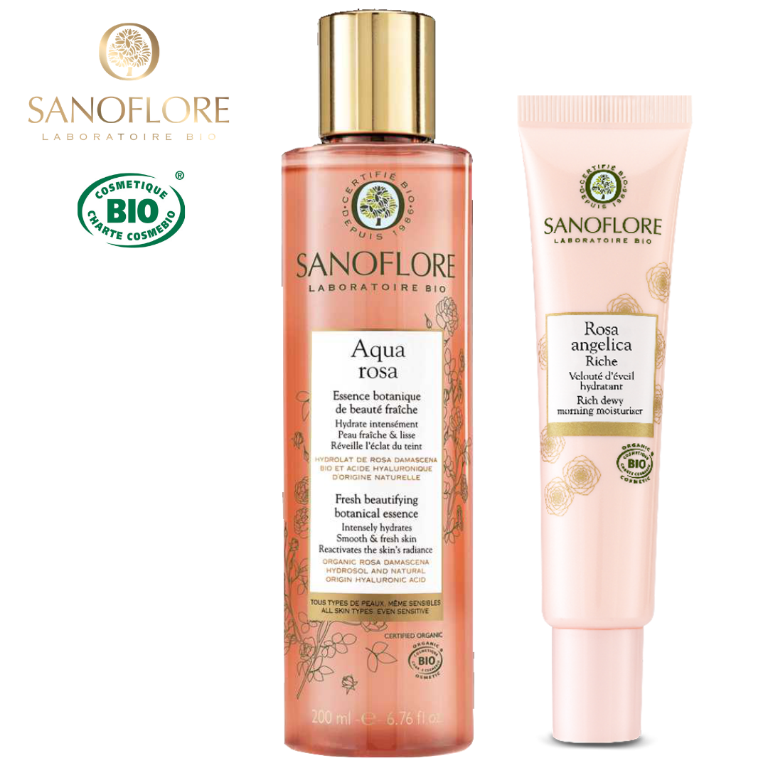 Sanoflore 瑰麗保濕套裝 Rose Gift Set 71折 [法國限定] | SANOFLORE Rose Gift Set (Aqua Rosa Botanical Essence + Rosa Angelica Rich Dewy Morning Moisturiser)