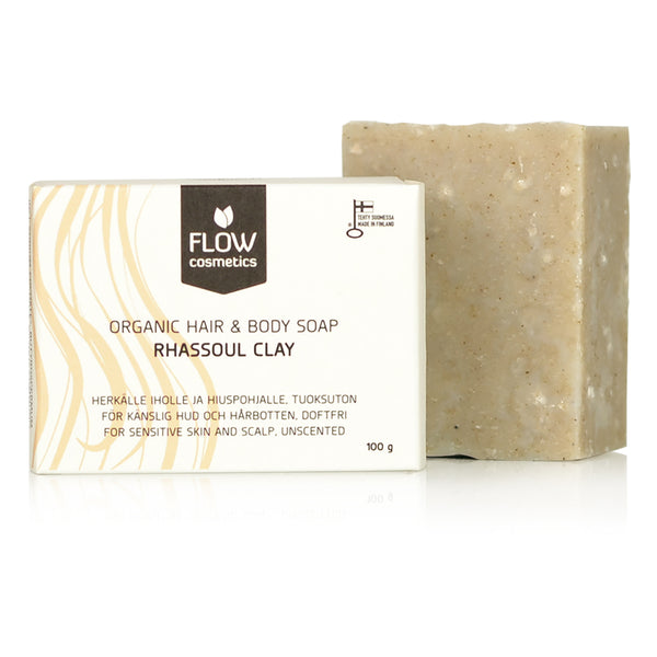 FLOW COSMETICS 摩洛哥火山泥抗疹洗髮沐浴皂 | FLOW COSMETICS Rhassoul Clay Hair & Body Soap