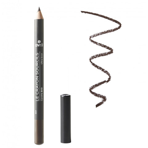 AVRIL 天然有機眉筆 (深啡色) | AVRIL Eyebrow Pencil (Dark Brown) - Certified Organic