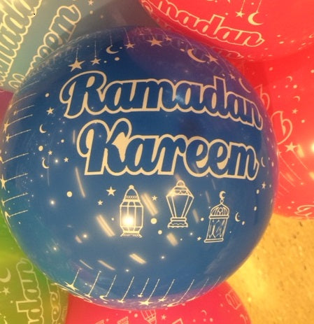 BALLOONS-RAMADAN MULTI COLS (10 Pack) - Baitul Hikmah Islamic Book and Gift Store