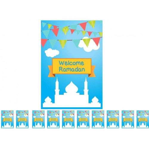 WELCOME RAMADAN FLAGS (PACK OF 10) - Baitul Hikmah