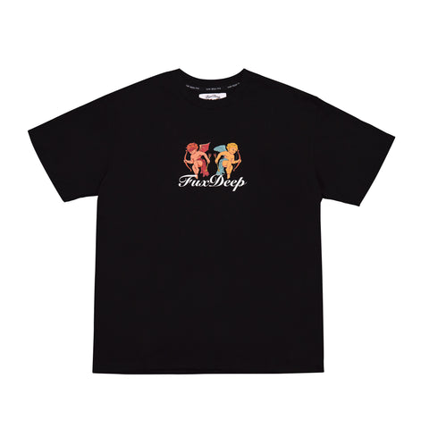 """FUXDEEP"" BLACK TEE"