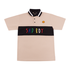 """SAD BOY"" TAN POLO SHIRT"