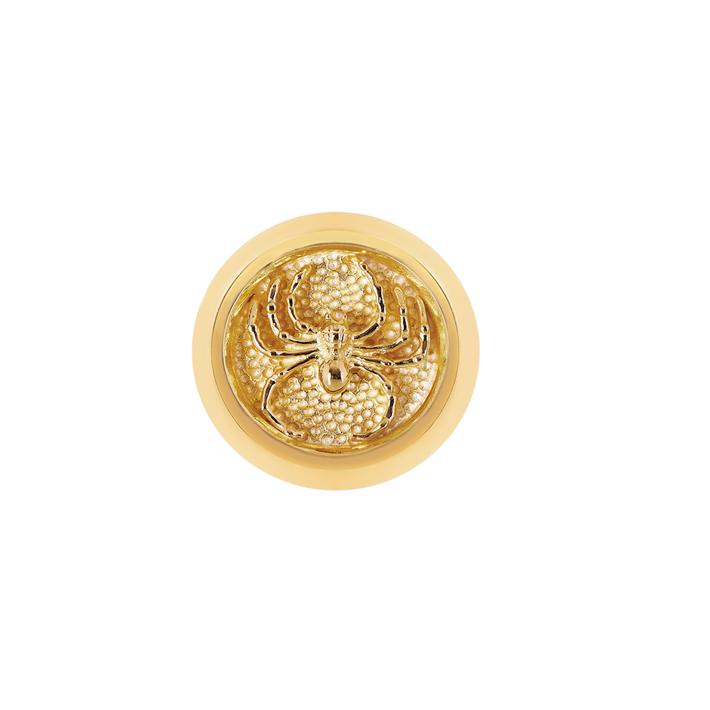 """Spider Roj"" Gold Plated Signet Ring"