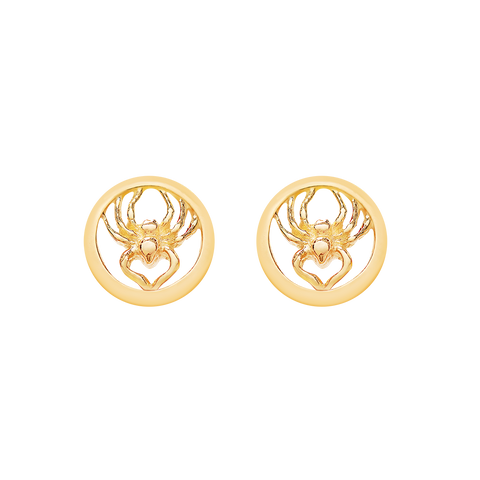 """Spider Roj"" GOLD PLATED Earrings"