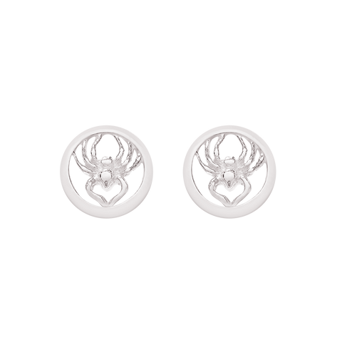 """Spider Roj"" SILVER Earrings"