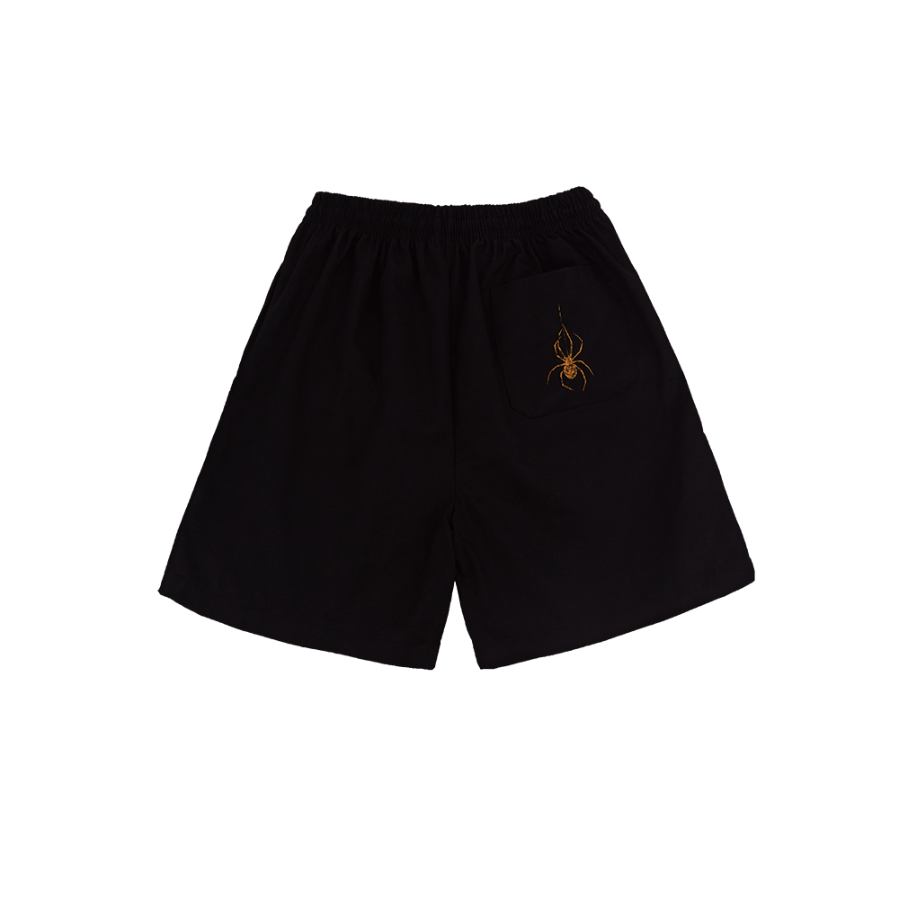 """HORSE POWER"" BLACK SHORTS"