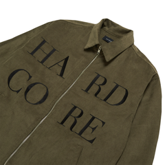 """HARD CORE"" KHAKI CORDUROY WORK JACKET"