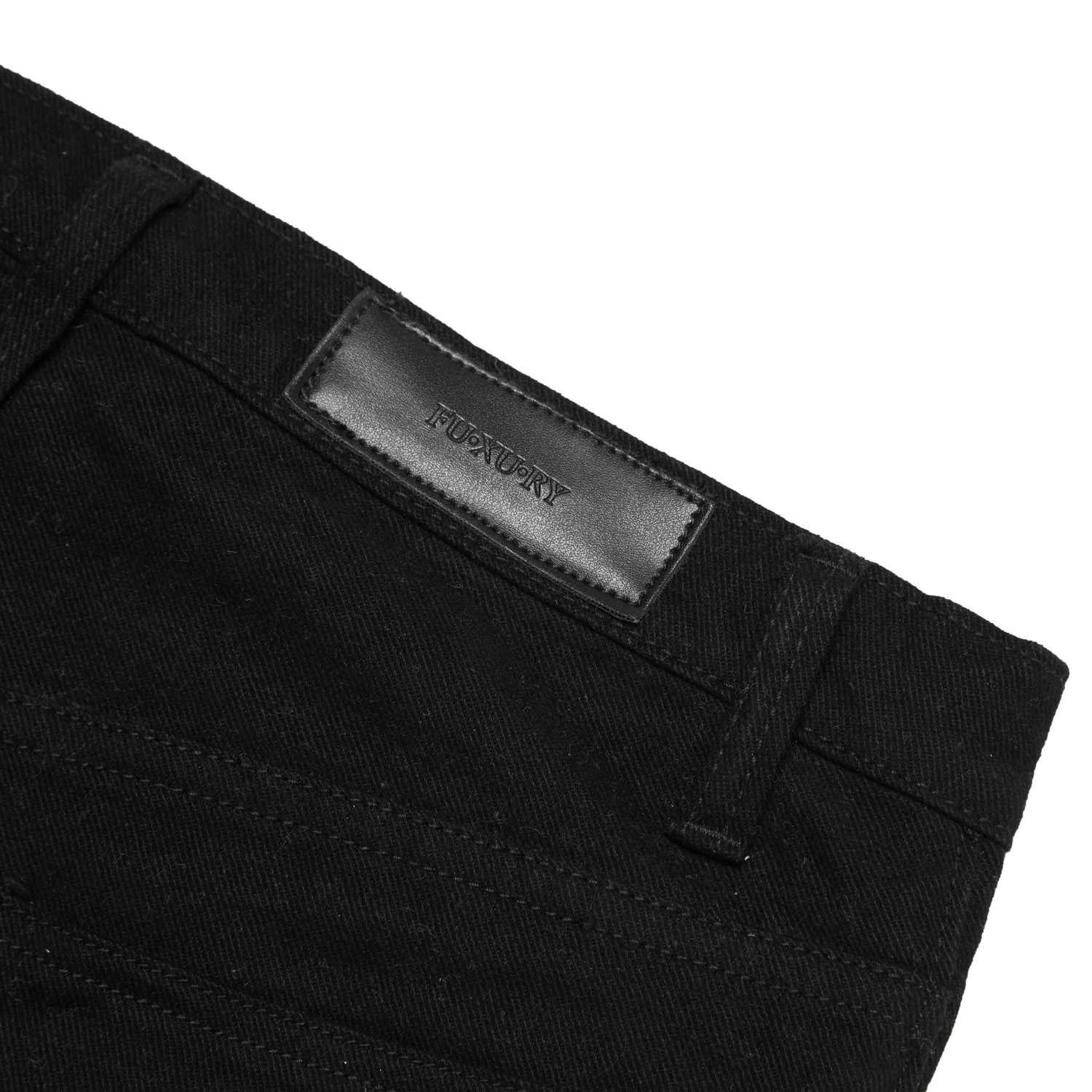"""WATCH YOUR BACK"" Black WASHED JEANS"