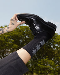 """SPIDER WEB"" BLACK COMFORT SOCKS"
