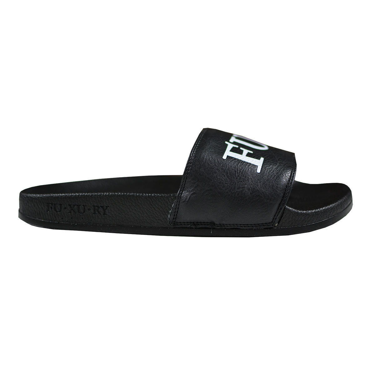 BLACK LOGO POOL SLIDES