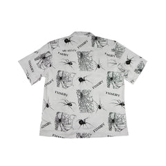 SPIDER WEB WHITE HAWAIIAN SHIRT