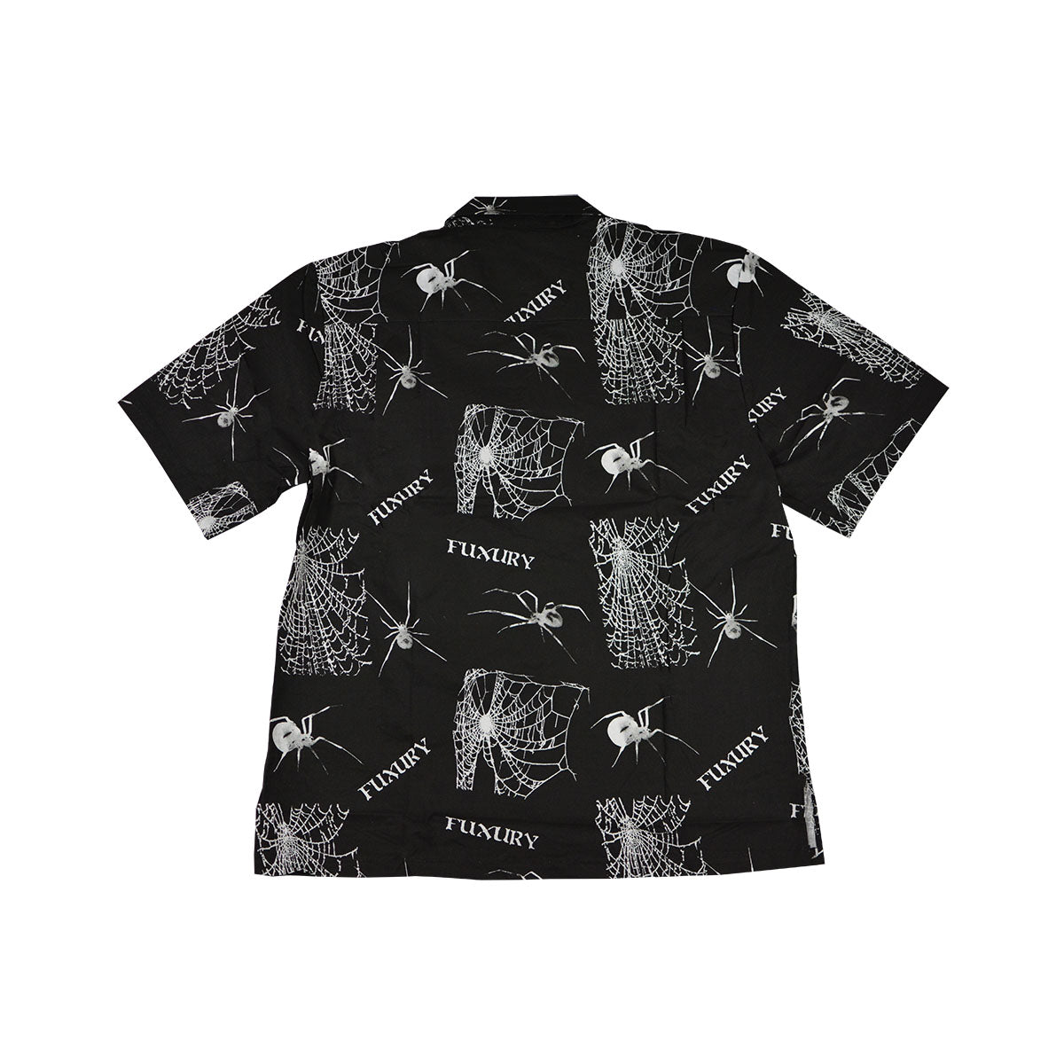 SPIDER WEB BLACK HAWAIIAN SHIRT