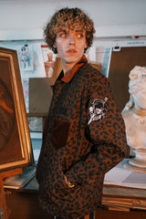 """Leopard"" Military Jacket"