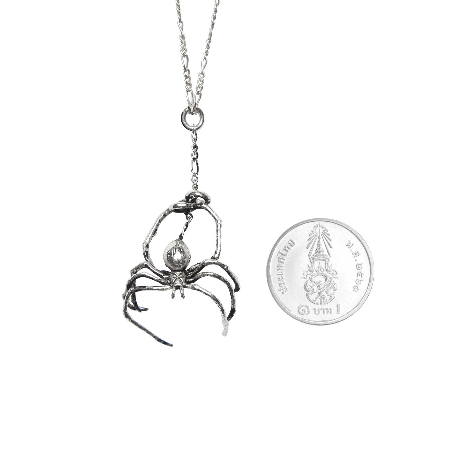 """Spider Fux"" 925 Silver Necklace"