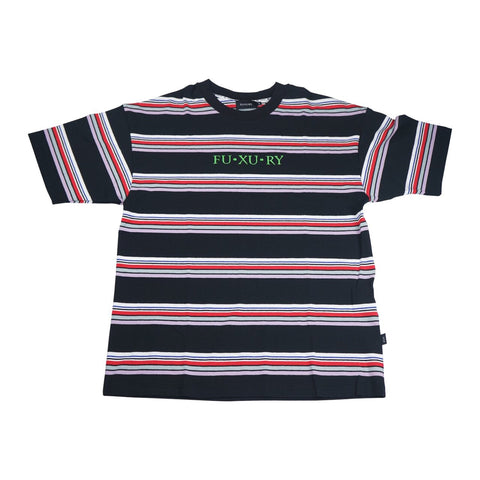 """FUXBRO"" BLACK STRIPE TEE"