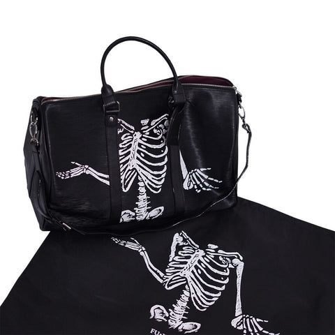 """Skinny Bone"" BLACK DUFFLE BAG"
