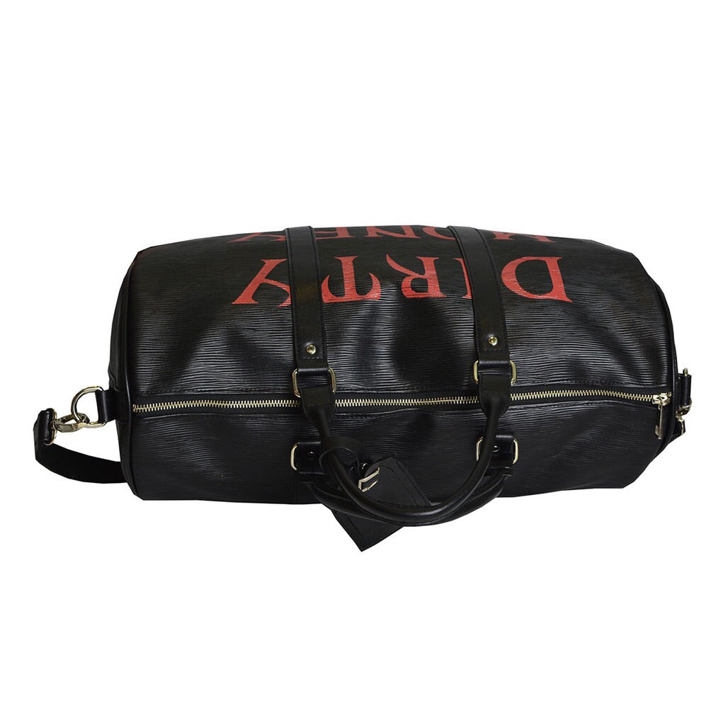 """Dirty Money"" BLACK DUFFLE BAG"
