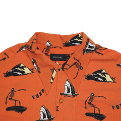 """FUX BRO"" ORANGE HAWAIIAN SHIRT"