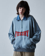 """BULLDOG""  OVERSIZE POLO TURQUOISE SWEATER"