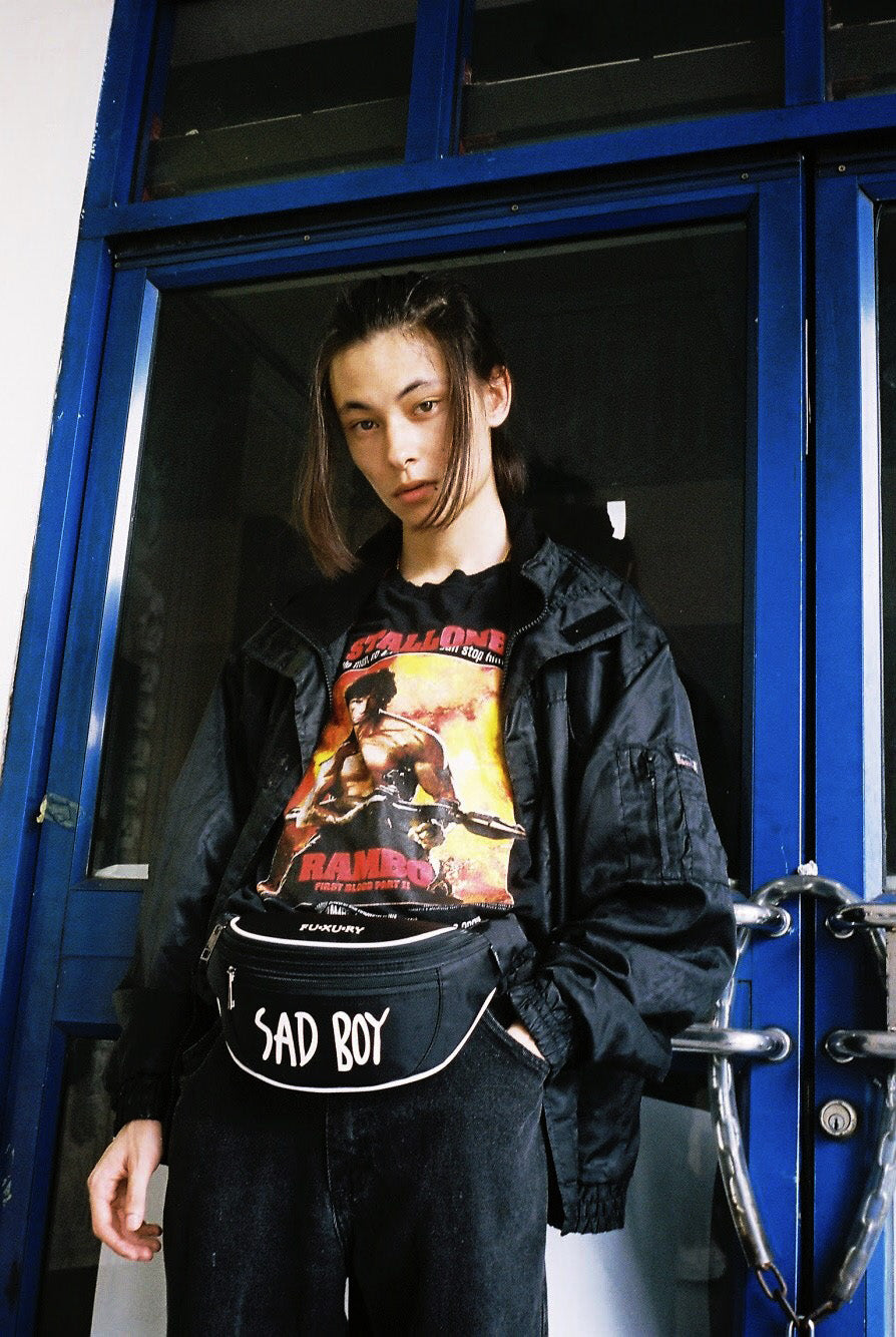 SADBOY BLACK WAIST BAG
