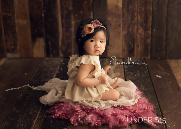 Gumnut & bloom,tiebacks for photography,newborn props,flower crown,sitter props,