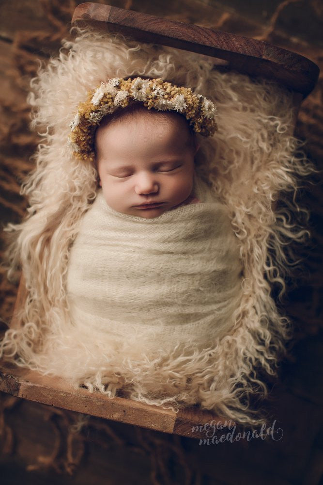 Newborn photography prop aunewborn tiebackflower crownflower crowns