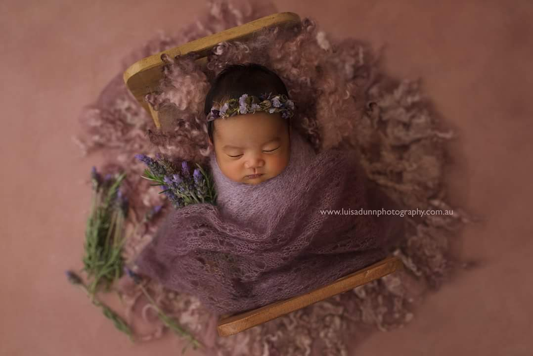 newborn photography prop,purple baby headband,