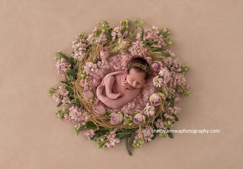 """Dawson"" Dried foliage gumnut jute soft wire halo photography photo prop newborn"