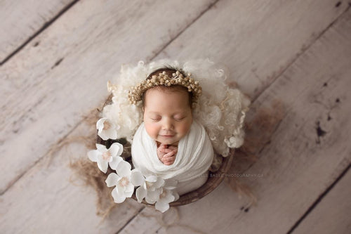 """Merri"" newborn photo prop halo"