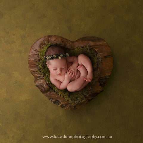 """Earth's Rainbow"" newborn photography prop tieback"