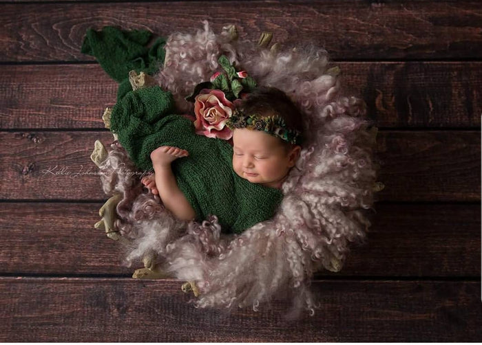 """Flowers of Love""  tieback photography prop for newborns"