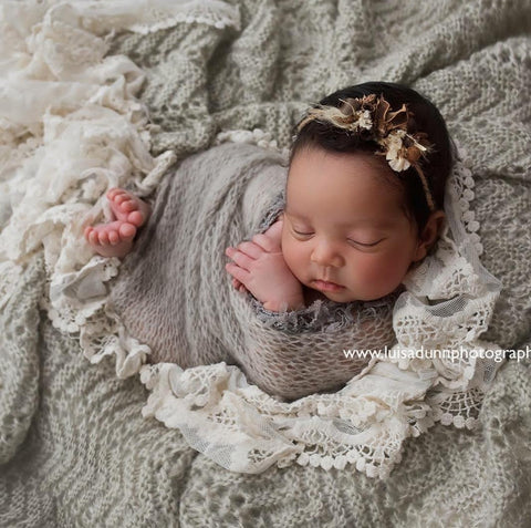 """Earth's Wish"" newborn photo prop tieback"