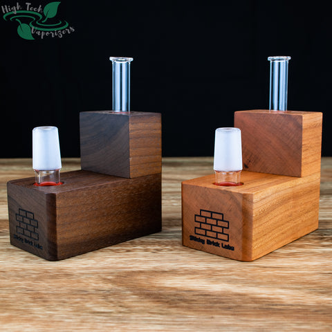 hydroBrick walnut and cherry side by side comparison