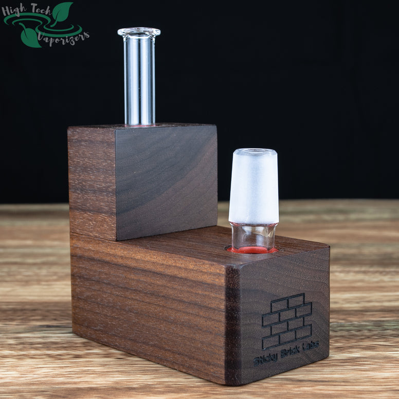 left view of hydrobrick walnut vaporizer