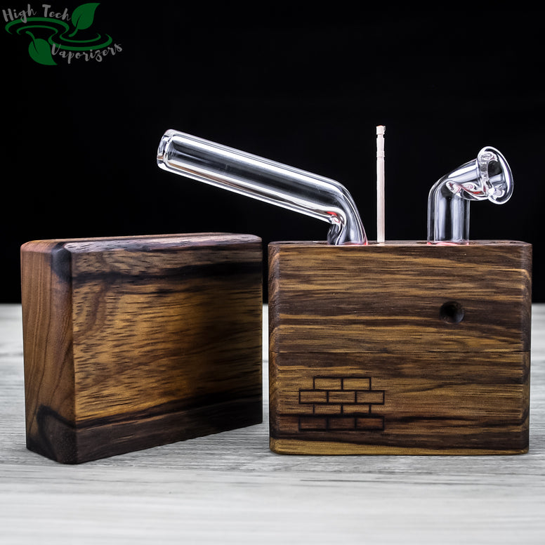 black limba junior sticky brick with lid off