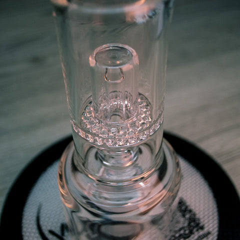 close up of honeycomb perculator on hydratube by vapexhale